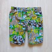 Шикарные яркие пляжные шорты для мальчика. Внутри сетка. H&M. Размер 7-8 лет. Состояние: новой вещи