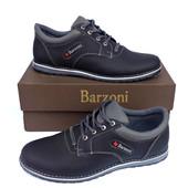 Кожаные спортивные туфли Barzoni №15 чёрные, 41 и 44 размеры