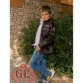 """Куртка """"PU-кожа """" цвета коричневый и чёрный.Размер 16 и 18 (2с)"""