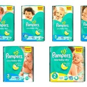 Низкие цены Pampers Active Baby 2, 3, 4, 5, 6 giant pack большие пачки