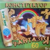 Фантазия Игротеко Конструктор из дерева (дуб) - 60 деталей
