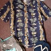 Стильная пляжная ,гавайская рубашка Old Navy р. L-XL