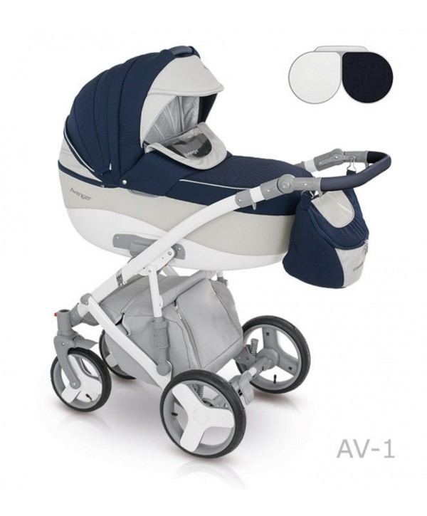 Детская универсальная коляска 2 в 1 camarelo avenger lux фото №1