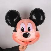 Воздушный фольгированный шарик в форе головы Микки Мауса, отлично впишется в атмосферу детского праз