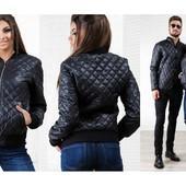 """Куртка """"Ромбик """" Размеры: s ,m , l. Цвет: черный. (2с"""