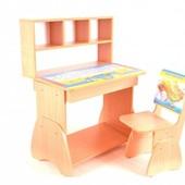 Новинка!!!Парта регулируется в 3 высотах и стол и стул