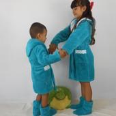 Детский халатик с сапожками Супер набор