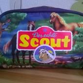 пенал, косметичка, сумочка Scout, Германия, лошадки
