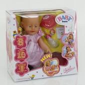 Пупс BABY born (арт. 800058 B), с аксесуарами,звук,свет
