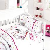 Постельное бельё First Choice stork pembe (Детское в кроватку)