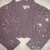 Фирменное Moonsoon ангора болеро с паетками лилового цвета