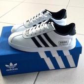Кроссы белые натуральная кожа Adidas Superstar в наличии