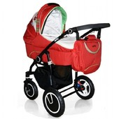 Коляска универсальная 2в1 с сумкой Geoby Limited C3011-rmzf-g Китай красный 12113489