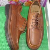 мужские туфли Clarks  (Cushion Gell ) р.8.5 Н ,стелька 27.5 см