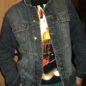 Фірмовий стильний брендовий пиджак карточка джинсовая  Blue Inc.л-хл