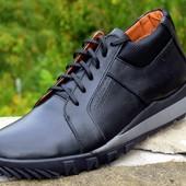 мужские кожаные ботинки зима цвета Код:М Код: 302