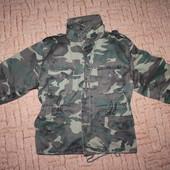 супер курточка х\б с подкладкой и жилетом для мальчика где-то 7-8 лет