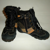 Ботинки замшевые демисезонные, евро зима, Bobbi Shoes-Германия  р.28,по стельке 19 см.