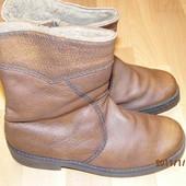 зимние кожаные сапоги 41-42 р UK 8,5 Salamander