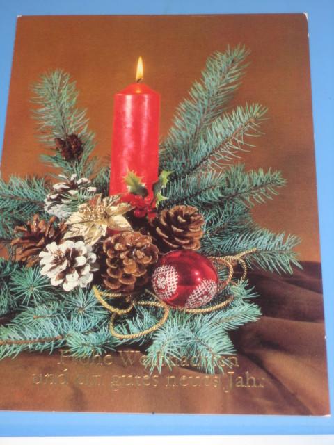 Новогодние открытки из гдр