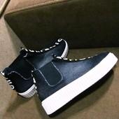 Джинсовые высокие конверсы-ботинки. Новинка!