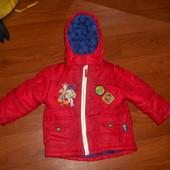 Яркая деми куртка осень джордж на 1,5-2года