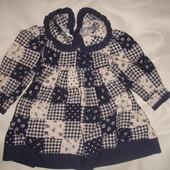 Фирменное стильное платье хлопок на год-полтора