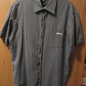 """Рубашка мужская """"Uniform"""" с коротким рукавом в хорошем состоянии, размер XXL, Уп 10"""