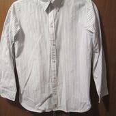 Молодежная мужская рубашка с вышивкой на спине в отличном состоянии, размер М (152/158), Уп 10