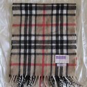 Шарф шерсть клетка Burberry Highland Home Industries Шотландия