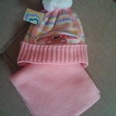 В Наличии!  шапочка для девочки 1-2 года