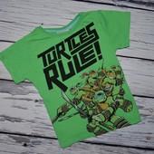 3 - 4 года 104 см Rebel Рейбел Фирменная яркая футболка стильному мальчику Черепашки Ниндзя Teenag
