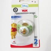 Новая! NUK 6-18 ортодонтическая латекс Винни с воздушным клапаном
