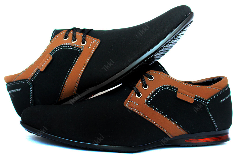 Мужские туфли-мокасины черные осень (БМ-01Бч) фото №1