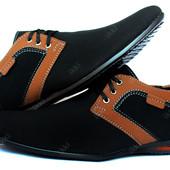 Мужские туфли-мокасины черные осень (БМ-01Бч)