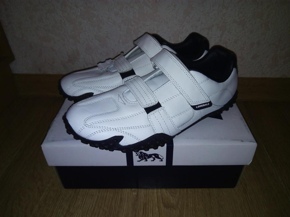 Кожаные мужские кроссовки Lonsdale Англия (белые) фото №1