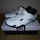 Кожаные мужские кроссовки Lonsdale Англия (белые)