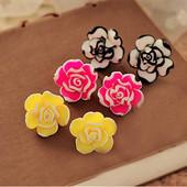 4-76 Серьги Colorful Rose/ Бижутерия