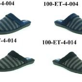 100-ЕТ-4-004, 100-ЕТ-4-014 Тапочки мужские домашние Inblu цвет - черный,синий размеры 40-46