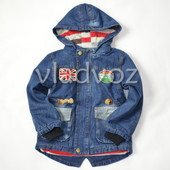 Джинсовая парка куртка для мальчиков подкладка флис Гуфи 6-7 лет 3509-2