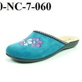 100-NC-7  Новинка! Тапочки женские домашние Inblu Цвет - бирюза,  размеры 36-41