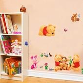 Интерьерная виниловая наклейка Дисней Винни Пух в детскую комнату