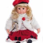Интерактивная кукла Настенька MY 005 (красный берет), рус, мимика, моргает, поворачивает голову
