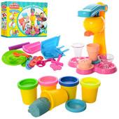 Игровой набор для творчества с пластилином (тесто для лепки) Фабрика мороженого МК 0078