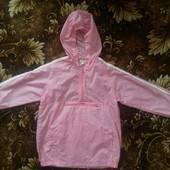 Красивая нежно- розовая курточка- дождевик для красавицы 7-9лет