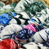 Нежный шарф косичка,принт полоса