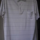 Тениска мужская белая голубая полоска Silk Cut XXL