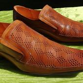 Кожаные мужские туфли, лоферы 41 размер.