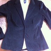 Черный бархатный пиджак Gap