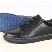Ботинки мужские зимние черные кожаные и замшевые